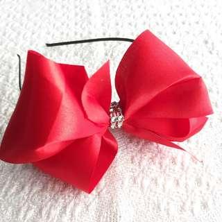 NEW! Girls' Oversized Red Ribbon Hairband (3-9 years old)