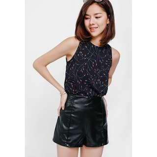 Shodia Faux Leather Shorts