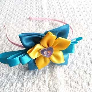 NEW! Girls' Frozen Yellow / Blue Hairband (3-9 years old)