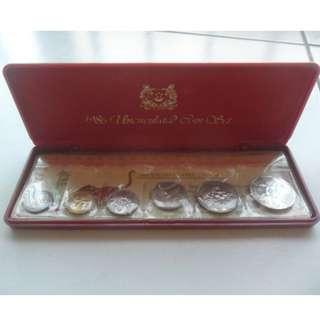 5x 1986 Lunar Year of the Tiger Coin Set (Extra Large $1 Coin)