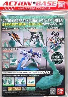 Sparkle clear green action base