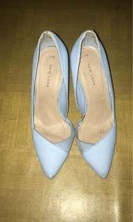 New look heels baby blue