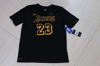 🏀現貨一件🏀NBA Nike LA Lakers Lebron James Tee US Youth Size 湖人勒邦占士美版大童尺寸Tee