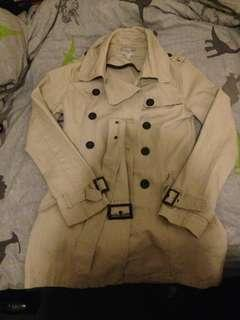 Cotton on beige trench coat