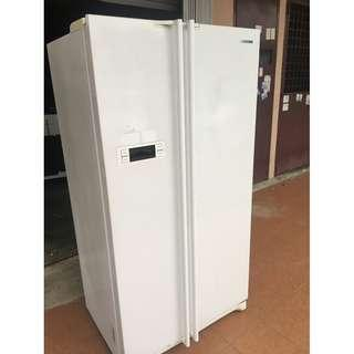 Side by Side Fridge Peti Ais Recond LG White