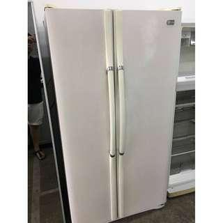 White LG Side by Side Fridge Recond Peti Ais