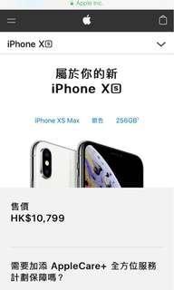 iPhone XS Max 256 gb 銀白 不議價