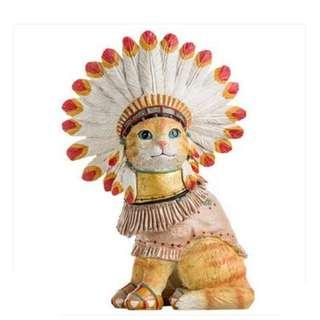 預購【ITEM】印地安風情大型 貓咪擺件 創意家飾 櫥窗裝潢