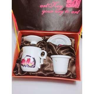 (全新)齊白石 陶瓷茶具四件組