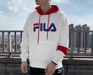 FILA White Line Hoodie Pullover Sweater