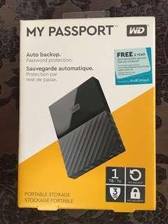 🆕WD My Passport 1TB Portable hard drive USB 3.0 (Sealed)
