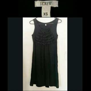 J.Crew Black Ruffle Dress
