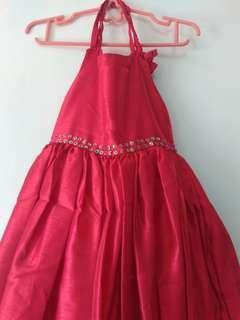 #Jualanibu Dress  pesta warna merah untuk anak 4/ 5 tahun.