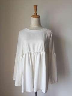 White Peplum Top/ Dress