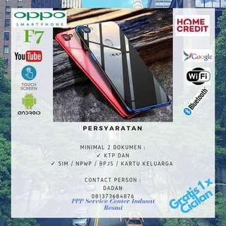KREDIT Handphone Oppo F7 Resmi Gratis 1x Cicilan