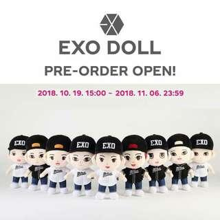 [ NONPROFIT ] EXO SM OFFICIAL DOLL (25CM) GROUP ORDER