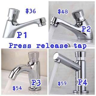 Press release water faucet tap
