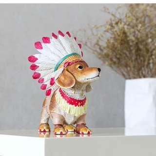 預購【ITEM】印地安風情大型 狗狗擺件 狗狗擺件 創意家飾 櫥窗裝潢