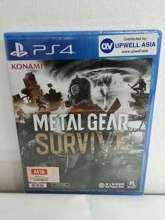 (Brand New) PS4 Metal Gear Survive / R3