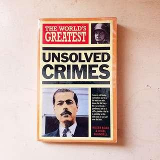 The World's Greatest Unsolved Crimes (FREE SHIPPING)