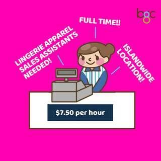 Lingerie Sales Assistants Needed!!