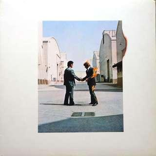 NO COVER Vinyl LP Pink Floyd ‎– Wish You Were Here WYWH Burning Man handshake SOPO 100 Japan 1st 1975 pressing