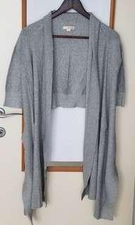 DKNY 灰色短袖披肩外套 (包郵)