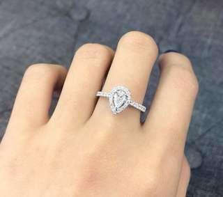 18K GIA 証書梨形鑽石 💎戒指 好貴大方💍💍