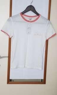 Brand new Jack Wills white T-shirt 全新白色純棉T卹 (包郵)