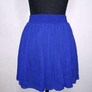 American Apparel Blue Chiffon Skirt