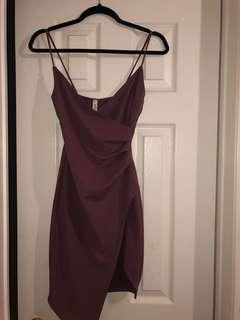 Mauve Wrap Around Dress