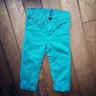 🚚 BabyGap 1969 skinny 湖水綠 牛仔褲(2Y)