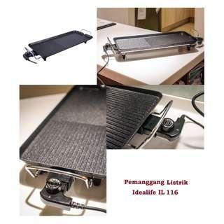 Idealife IL-116 Electric Grill Pemanggang Listrik Pemanggang Elektrik
