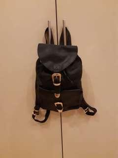 Gianni Versace Black Leather Backpack