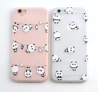 IPhone 6/7/8 Plus Case transparent panda cute