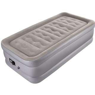 Sable Inflatable Bed Air Mattress Single Size with Built-in Electric Pump, Twin Size Air Bed Inflatable Airbed for Camping, Travelling, Overnight Guests - 188 x 99 x 50 cm