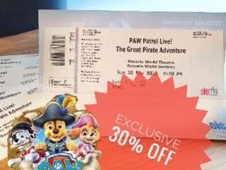 Paw Patrol Sistic Tickets