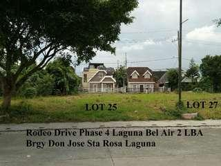 For Sale Commercial lot only in Laguna Bel Air LBA Sta Rosa Laguna