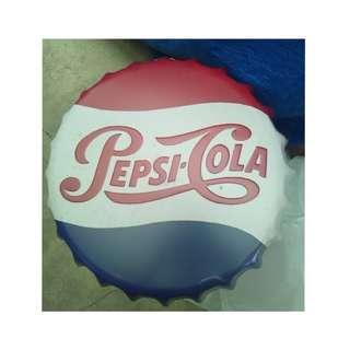 Bottle Cap Retro Metal Tin Sign Plaque Vintage PEPSI