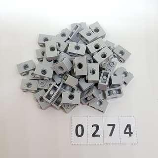 LEGO *Code 0274* Assorted Parts 55 pcs (Light Bluish Gray) - NEW