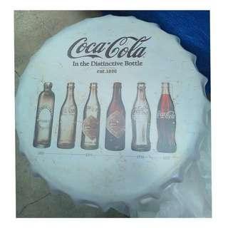 Bottle Cap Retro Metal Tin Sign Plaque Vintage COKE -A-