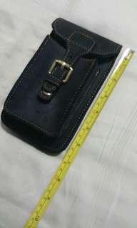 Genuine Leather Black waist/belt pouch