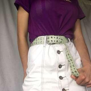 MINT GREEN GROMMET BELT