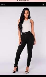 FashionNova Plus Size Kahula Skinny Jeans in Black