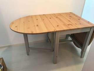 Ikea Gamleby Foldable Oak Dining Table