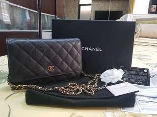 Chanel WOC Black Caviar GHW #21 (Original)