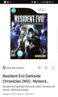 Looking for wii resident evil darkside