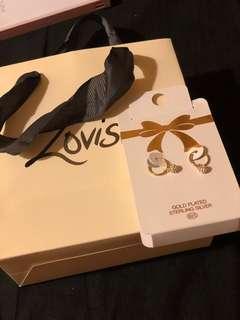 Earrings+shopping bag
