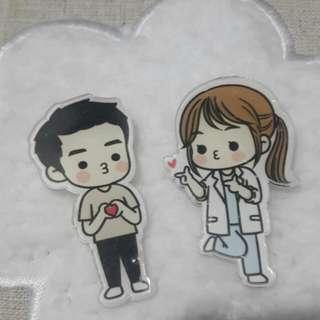 Couple Acrylic Pin