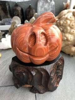 木紋石雕刻 -萬聖節南瓜